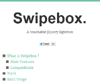 Swipebox  A touchable jQuery lightbox