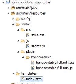 HandsontableとSpring BootでORACLEからの検索結果を一覧表示する