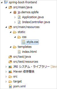 Spring Bootでstaticにcss配置