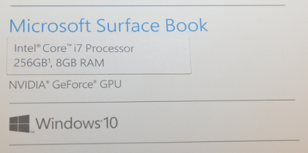 Surface Book購入スペック