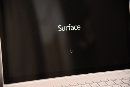 Surface Book 電源ON