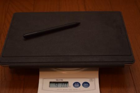 Surface3とタイプカバーとペンで910g
