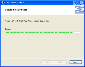 Windows Subversion インストール 005
